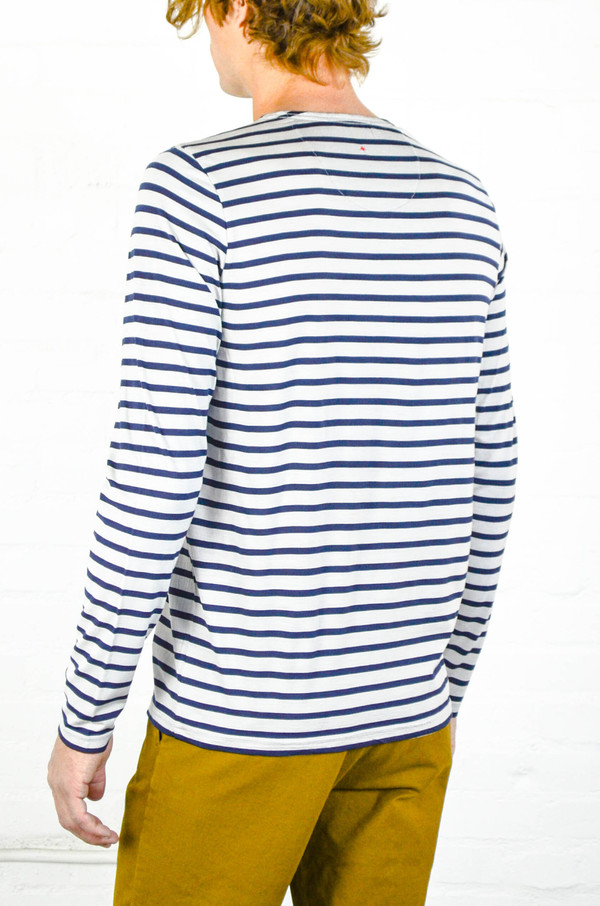 Apolis Striped Merino Wool Long Sleeve Shirt