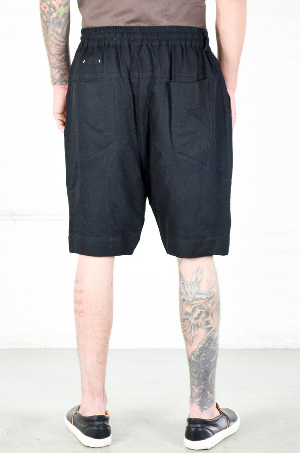 Men's Chapter Black Smocking Lam Short