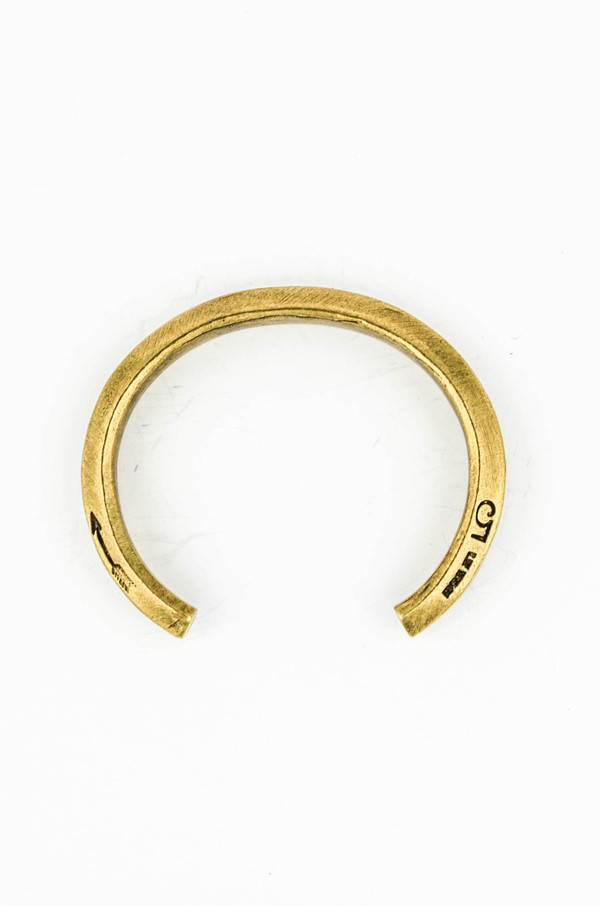 Men's Giles and Brother Brass Hex Cuff