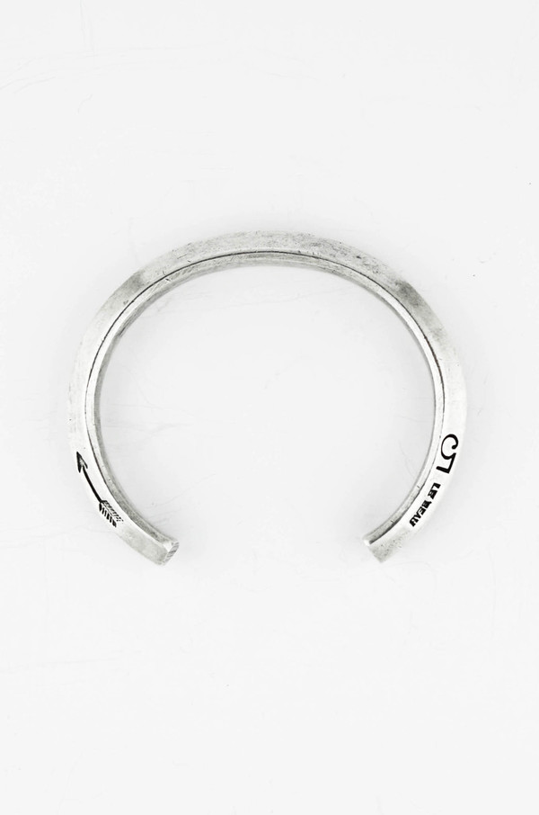 Giles and Brother Silver Hex Cuff