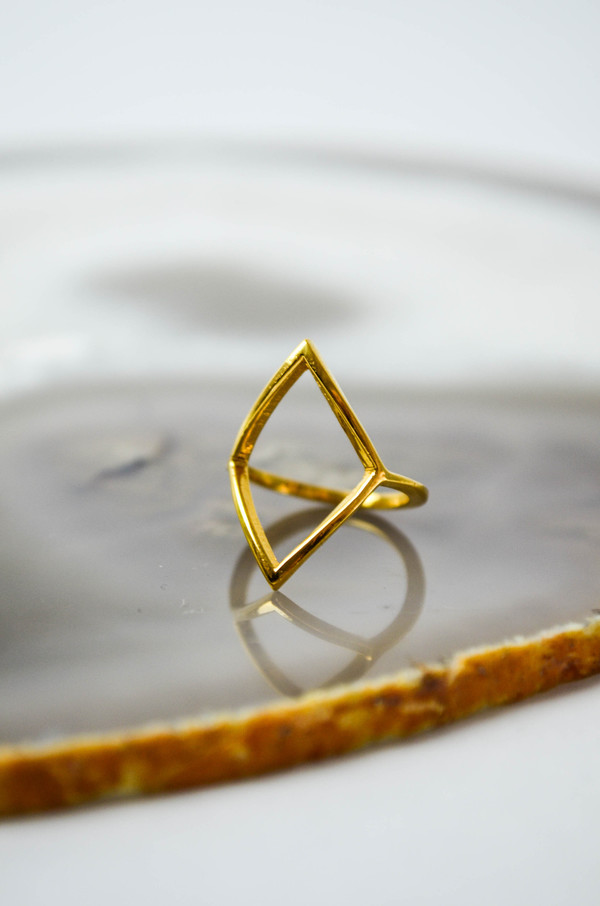 Loud Love Jewelry Diamond Ring Gold Vermeil