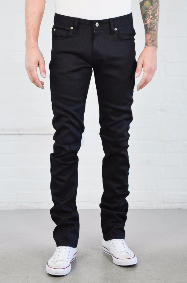 Men's Naked and Famous Skinny Guy Black Power Stretch