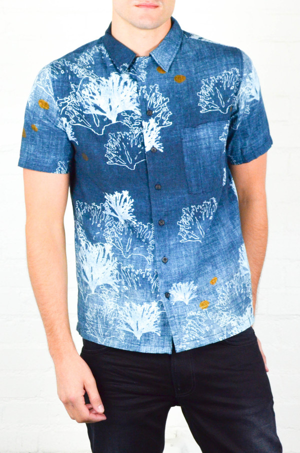 Men's Nudie Brandon Seaweed Shirt