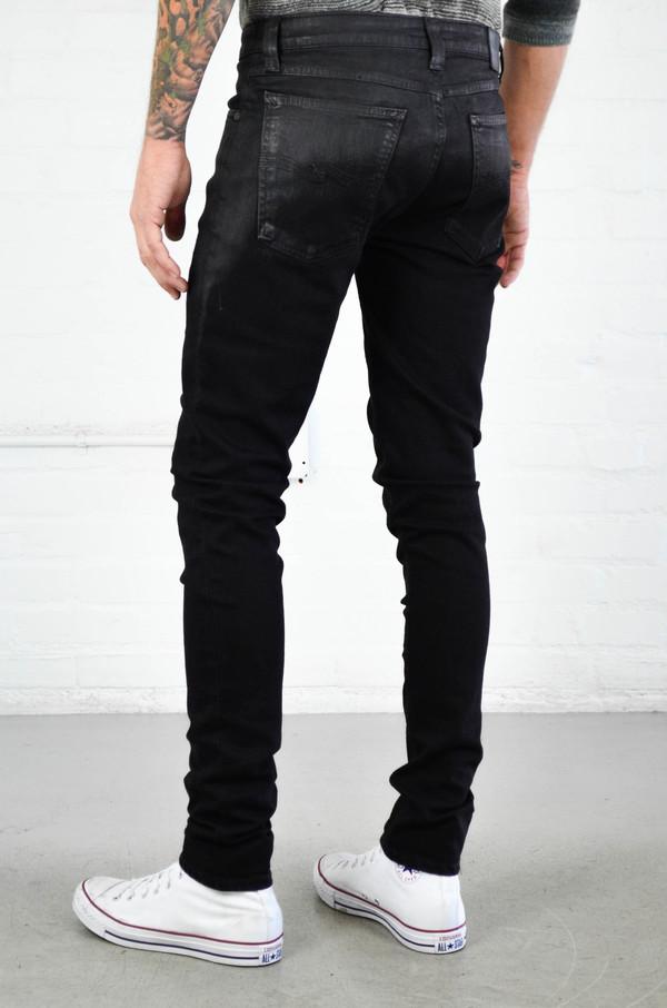 Men's Nudie Skinny Lin Shiny Black