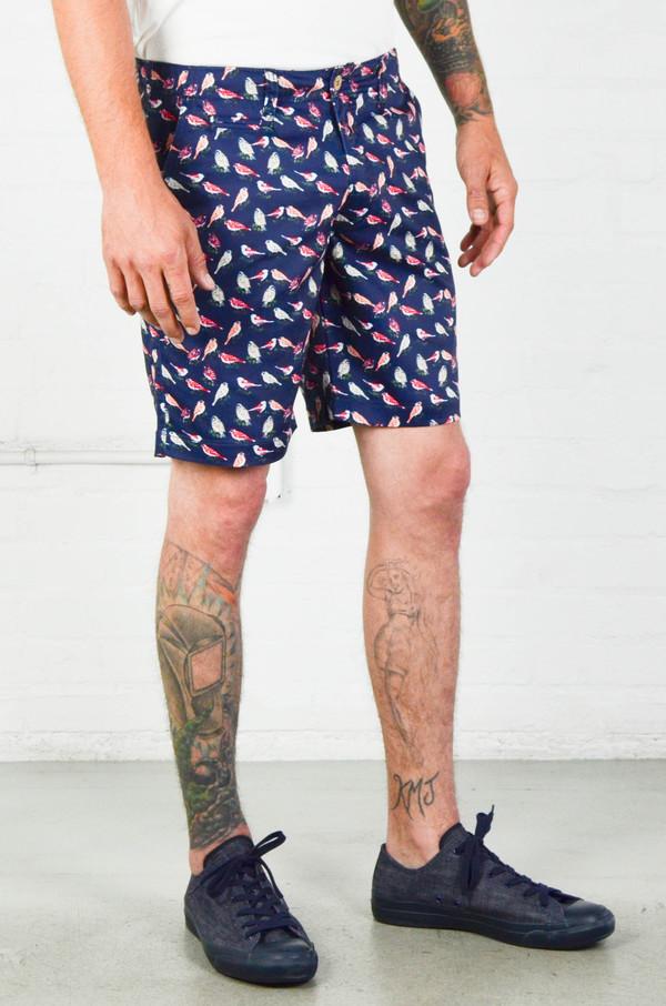 Men's Oxford Lads Bird Print Shorts