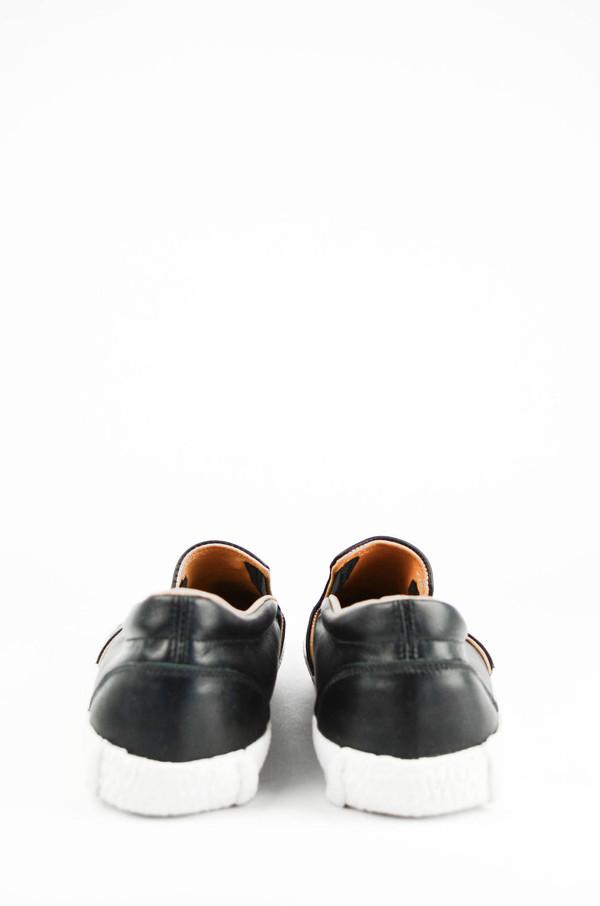 Men's YMC Black Leather Slip on Trainers