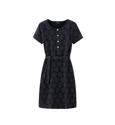 A.P.C. Navy Cherry Dress