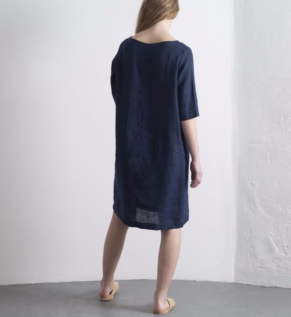 Fog Linen Blue Nuit Mayu Dress