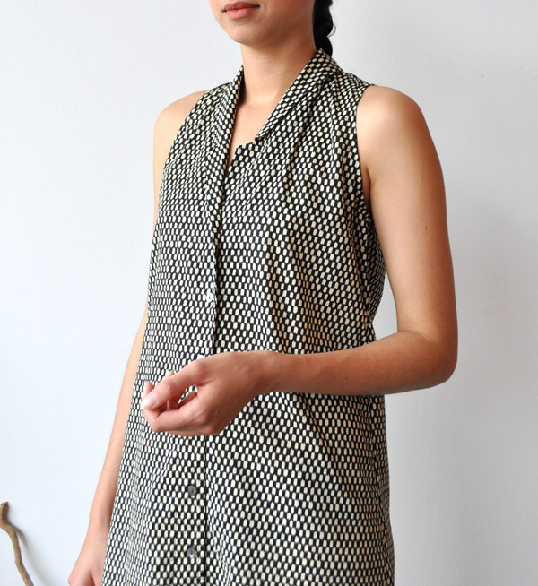 Ilana Kohn Black Checkers Eibel Dress