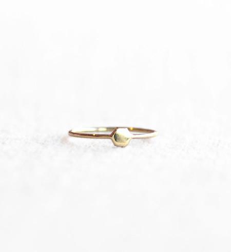 Mociun Gold Mini Hexagon Ring