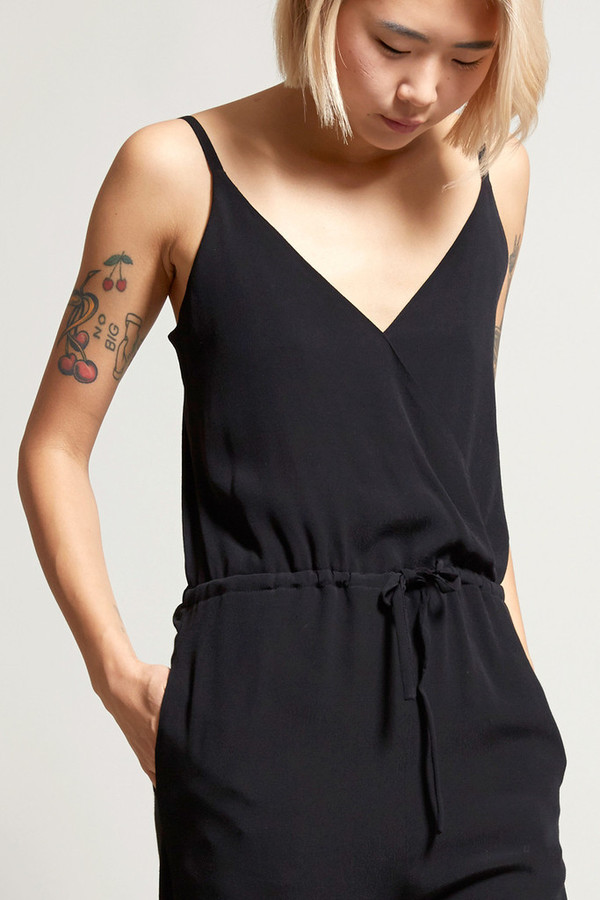 No.6 Black Rayon Playa Jumpsuit