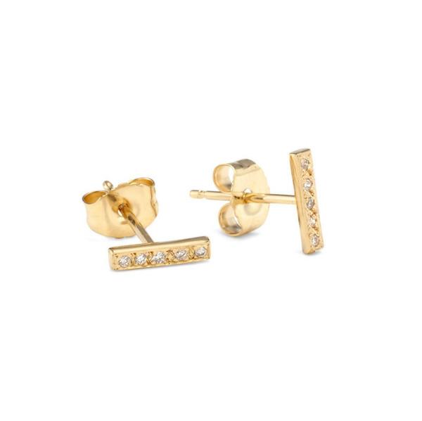 Satomi Kawakita Diamond Bar Earrings