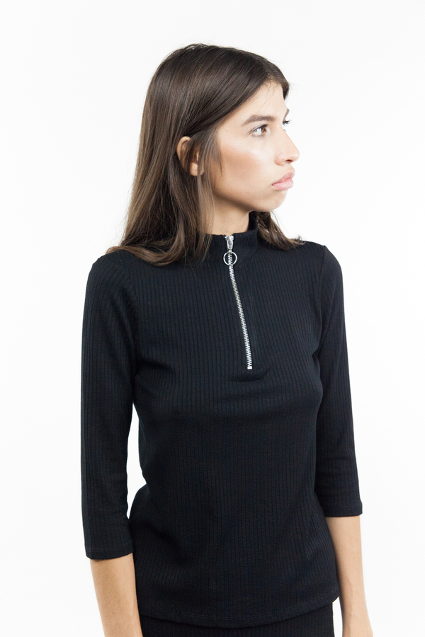 Just Female Rainy Blouse - Black