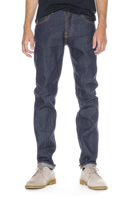 Men's Nudie Jeans Steady Eddie | Dry Twill Navy
