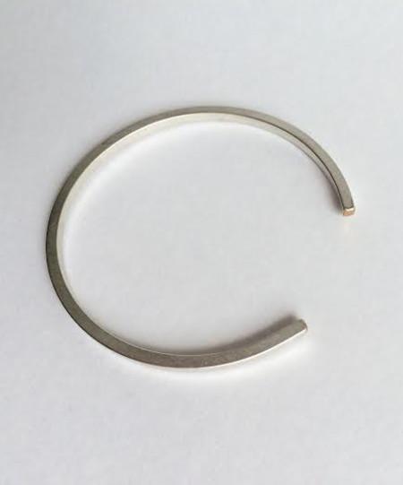 Baleen Silver Simple Cuff
