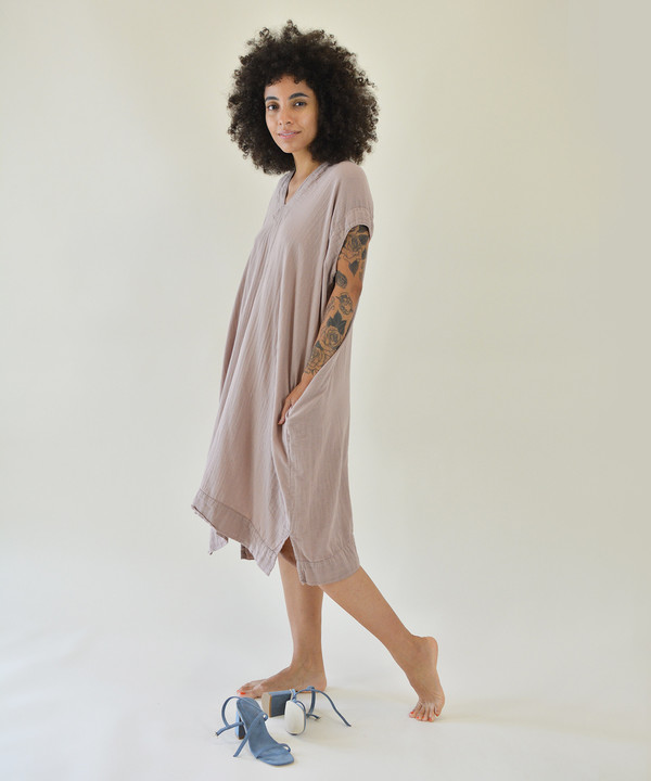 Delphine Dusty Coral Crescent Dress