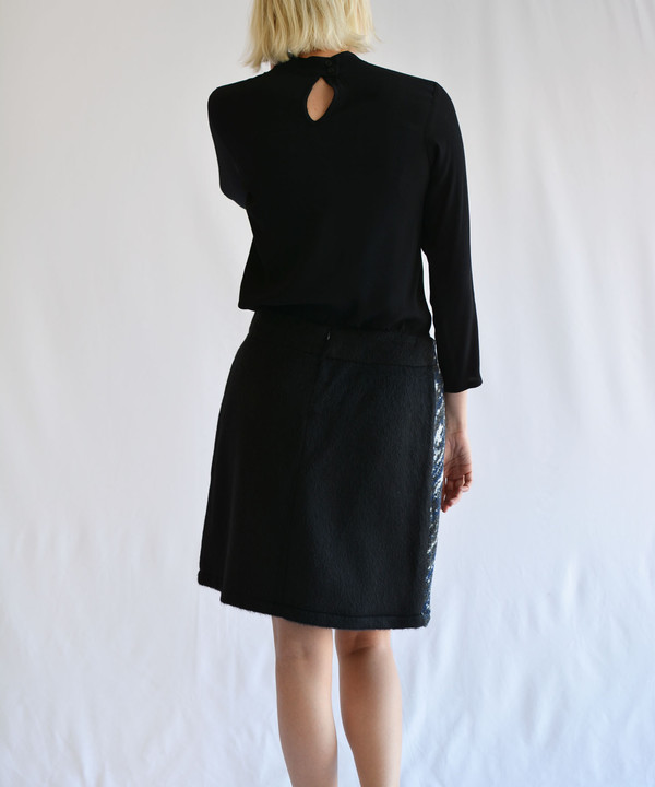 Delphine Slouchy Night Sky Wrap Skirt