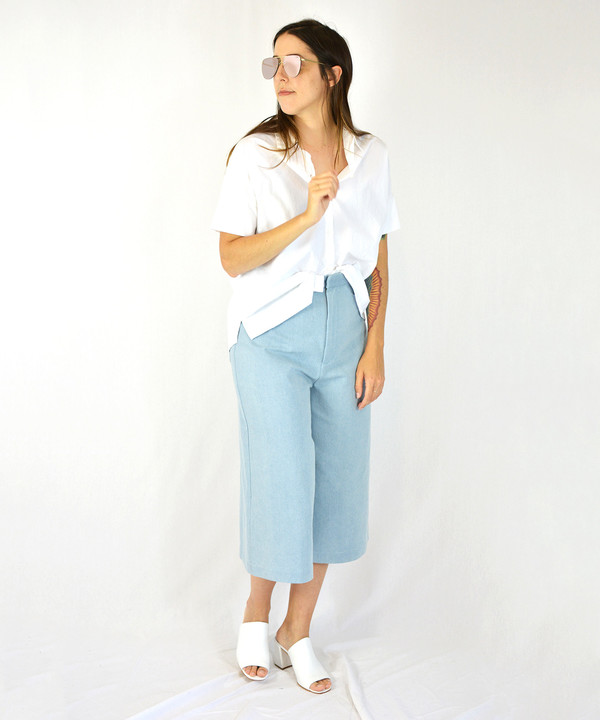 Esby White Stella Button Down