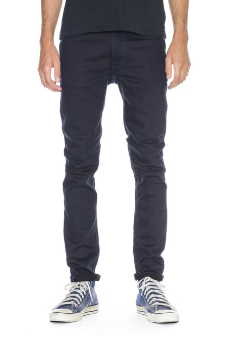Men's Nudie Jeans Lean Dean | Dry Black Indigo