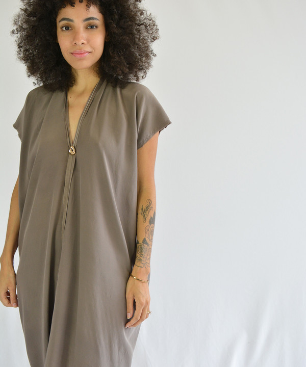 Miranda Bennett Olive Everyday Dress