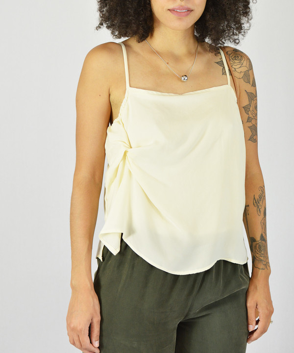 Objects Without Meaning Cream Twist Tank