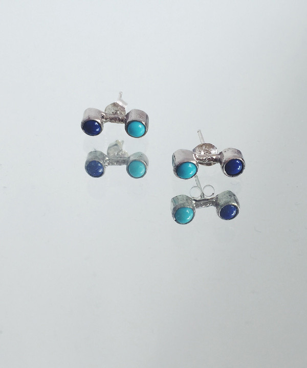 Odette New York Odette Turquoise & Lapis Double Aura Studs