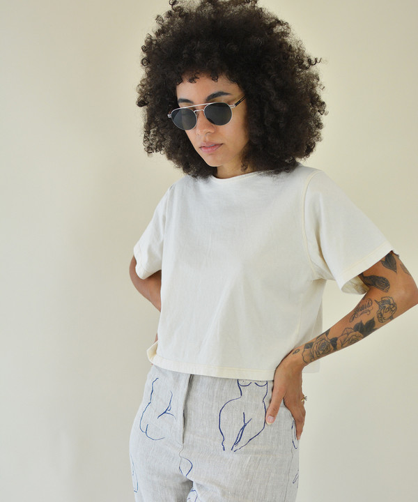Pansy Co. Pansy Natural Crop Tee