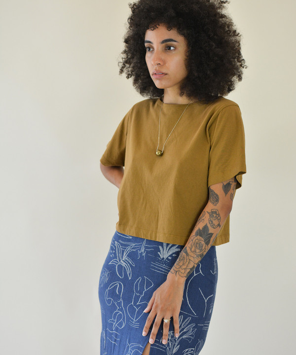 Pansy Co. Pansy Twig Crop Tee