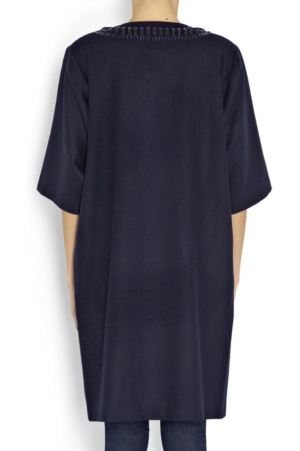 Rodebjer - Navy Blue Orbita Wool Dress Coat