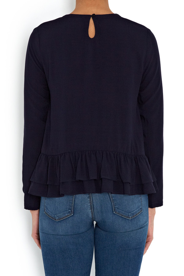 Rodebjer - Navy Lindy Peplum Frill Tunic