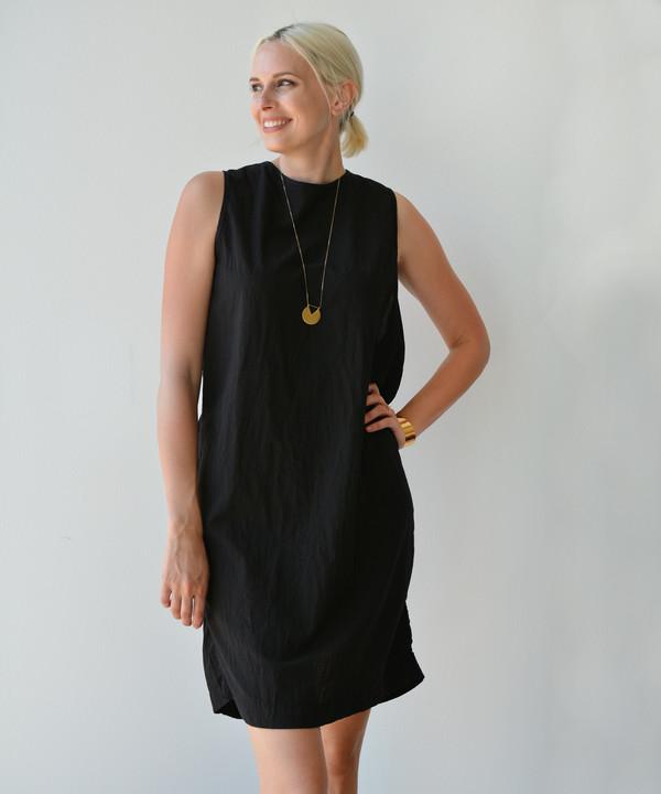 Uzi Refugee Twist Dress - Black