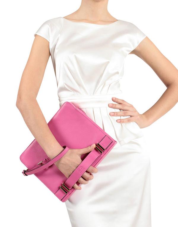Esin Akan - Pink 'Ascot' Clutch