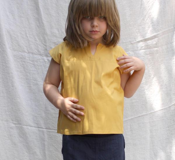 Kid's Sayulita Shirt in Indian Yellow