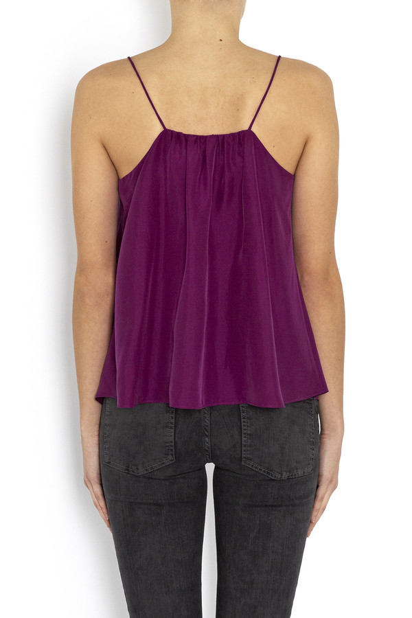 WHiT - Pink Silk 'Moss' Camisole