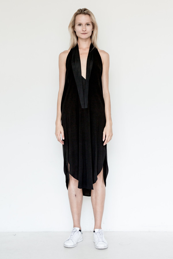 Assembly New York Crepe Shawl Dress