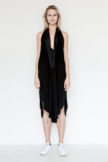 Assembly New York Crepe Shawl Dress