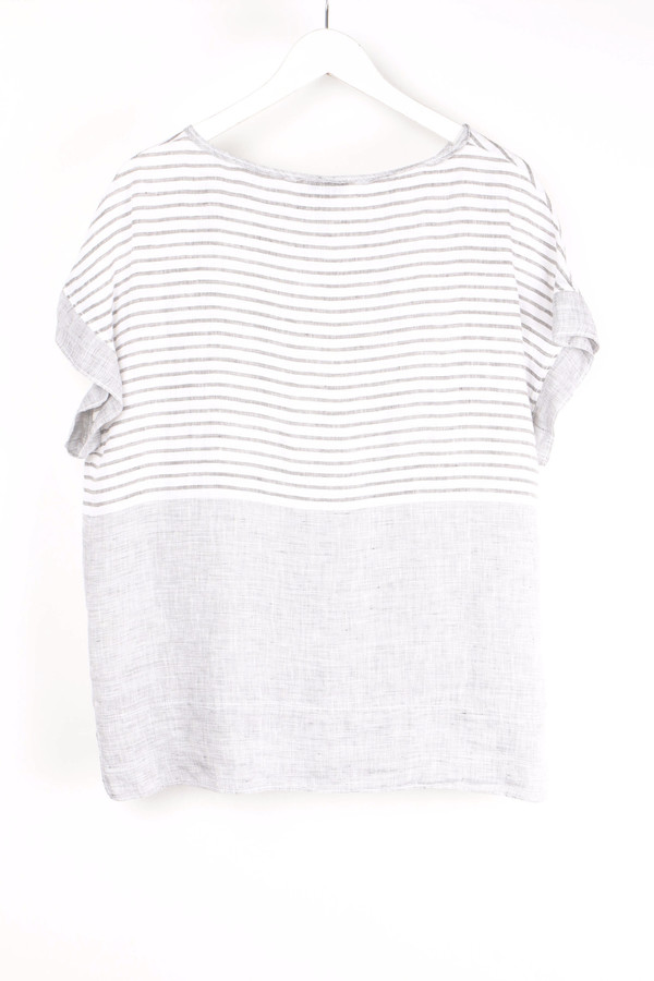 Rosso 35 Stripe Smock Tee
