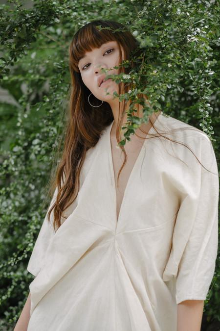 Seeker Studios Long Kaftan Dress - Natural