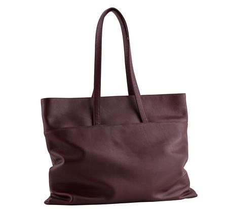 Burgundy Atlas Bag by Tsatsas