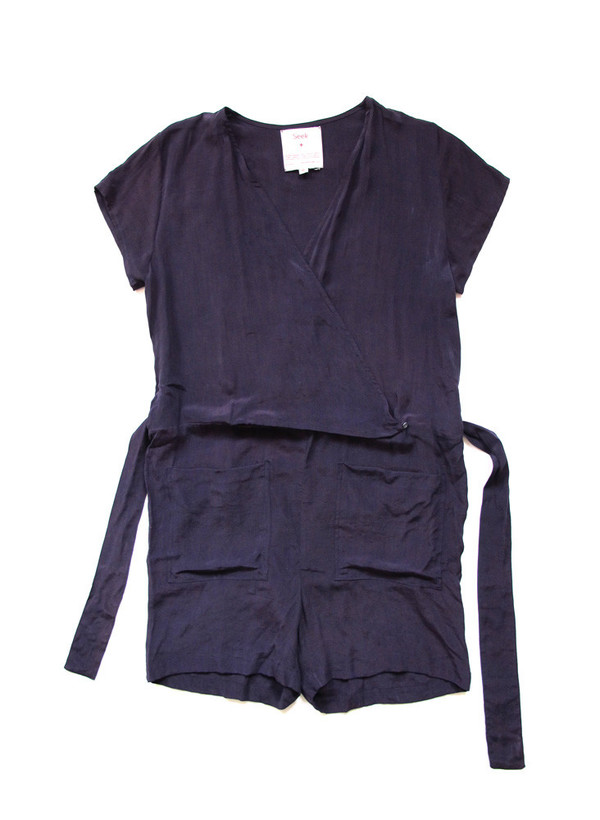Seek Collective Sample Sale / Shorts Jumpsuit, solid aubergine