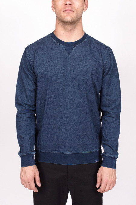 Men's Wood Wood Houston Sweatshirt Denim Indigo