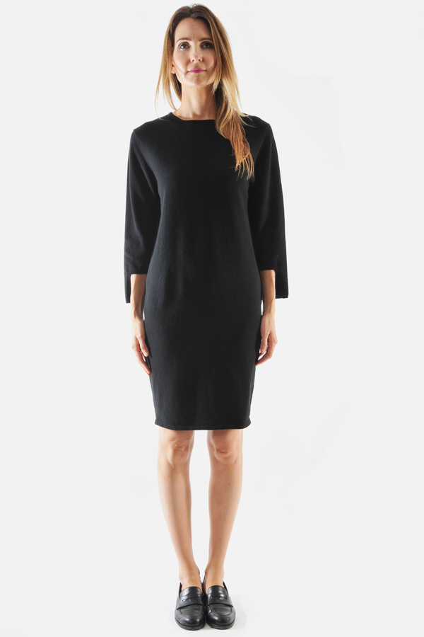 Oyuna Black Desta Cashmere Knit Dress