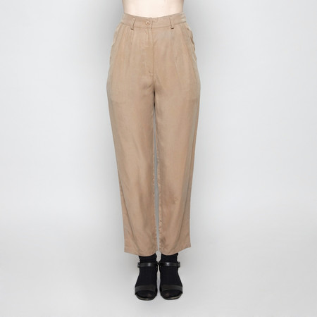 7115 by Szeki Pleated Trouser - Camel FW16