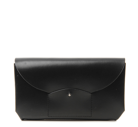 I Ro Se Black Ric Rac Long Wallet