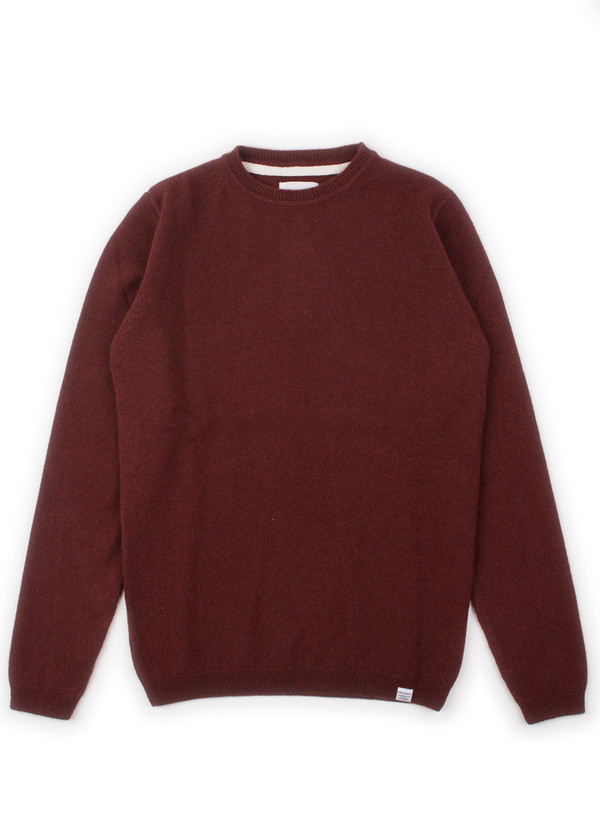 Men's Norse Projects Sigfred Lambswool Red Clay