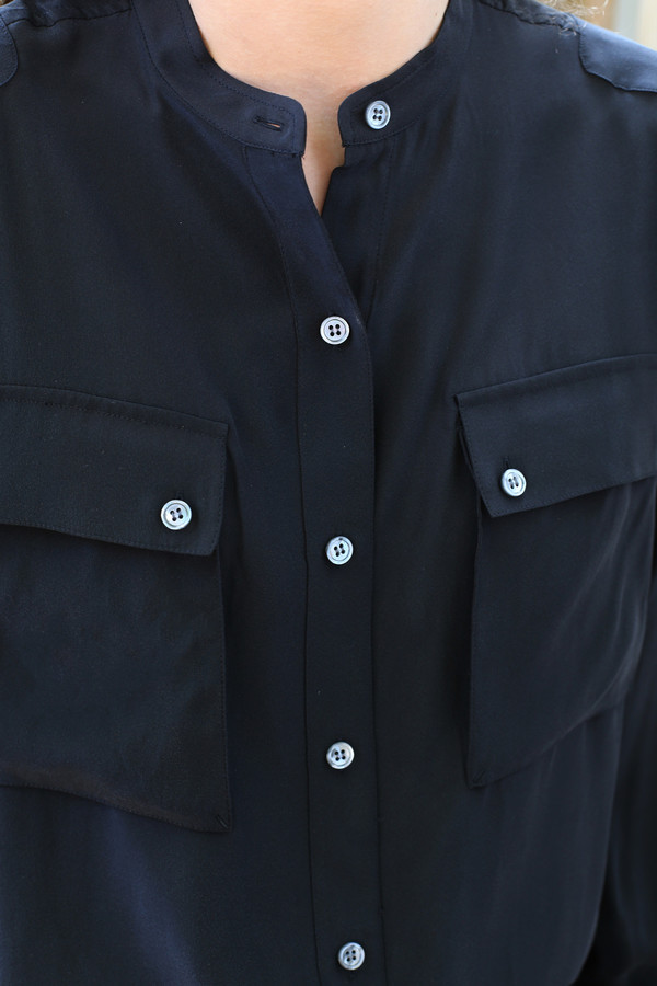FRAME Denim Silk Troop Shirt