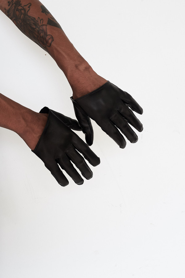 Men's Robert Geller Leather Gloves