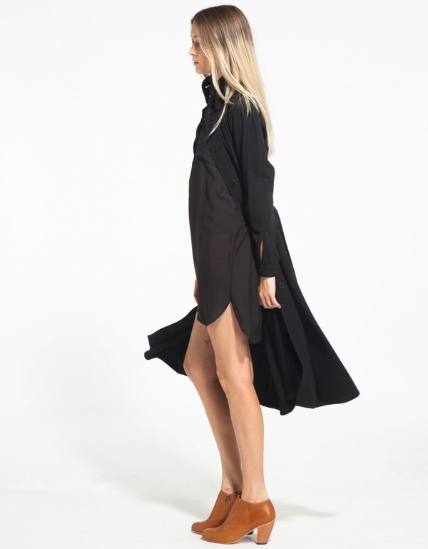 H. FREDRIKSSON BLACK SILK HIRO DRESS
