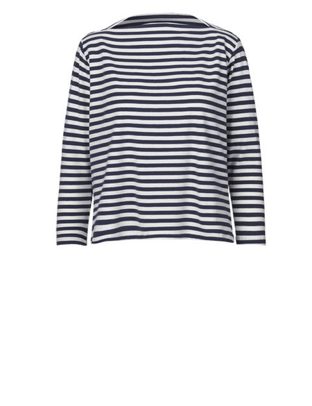 "Just Female ""Kath"" Jersey Boatneck Nautical Striped Breton Top"