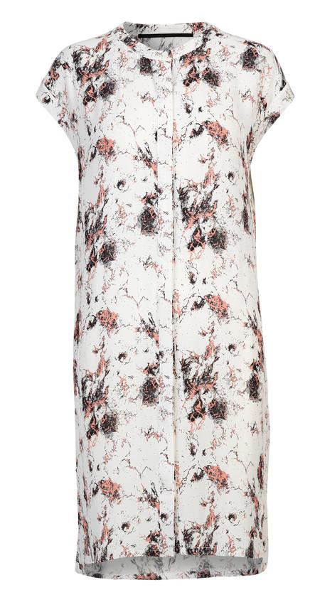 "Just Female ""New Marble"" Short Sleeve Printed Dress"